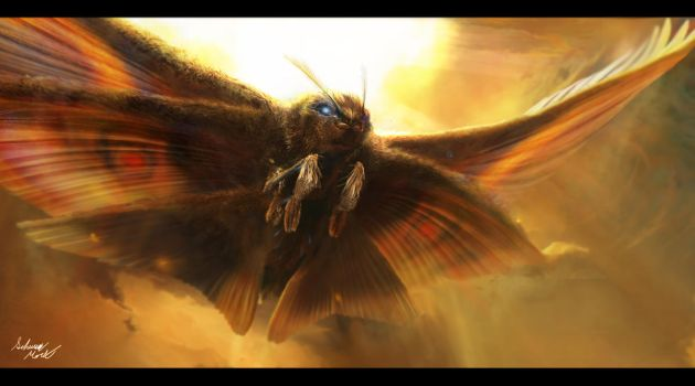 Mothra, Protector of Earth by InkVeil-Matter