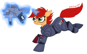 Pony Femshep by bibliodragon