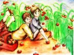 Spain and Romano (Hetalia) by Emitsukki