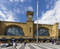 King's Cross Station exterior by CyclicalCore