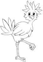 Chocobo LineArt by MetalHarpey