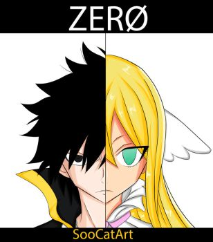 Zeref and Mavis by SooCatArt