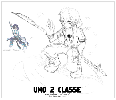 Grand Chase Uno 2 Class Sketch Art by iKiy