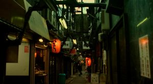 old street in shinjyuku by weiweihua