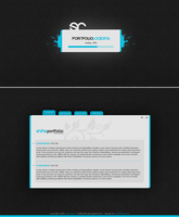 Blue Portfolio Template by Shiftz