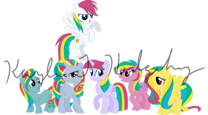 The Original Rainbow Power Ponies by kaylathehedgehog
