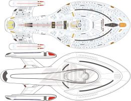 USS Voyager A top vs Voyager by Zardoz84