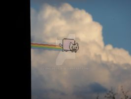 Nyan Cat Gone Airborne by engineerJR