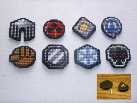 Pokemon - Johto Gym Badge Set by UWorlds