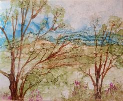 commission trees of the blue ridge by vandersonart