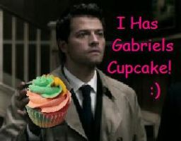 Castiel's Cupcake by Blissful-DeathTrap