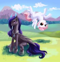 Arela and Infis in Pony World by fantazyme