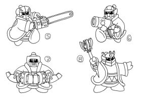 CONCEPT ART: KOoD - King Dedede's Abilities 2 of 2 by ChronoWeapon