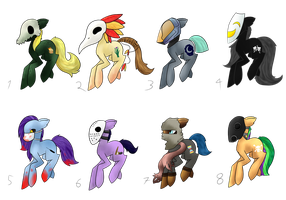 Masked pony adoptables by CleverConflict