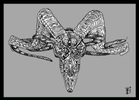 Greyscale Goat by d1sr3put3