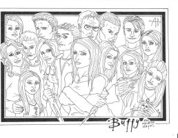 Buffy character group INKED by moehawk37