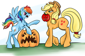 Applejack O' Lantern by ChromaFlow