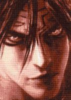 Devil Jin - Cross Stitch by shingorengeki