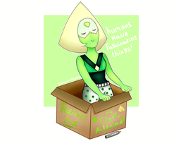 Peridot in a box by IridescentDisplay