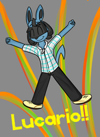 Luc! Lucario! by IlyaRacer