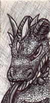 Dragon Bookmark by InvaderTigerstar