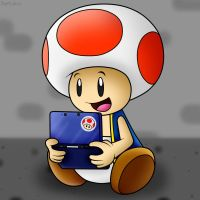 RQ for ToadFan15: That cute Toad playing 3DS! by SuperLakitu