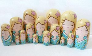 Mermaid Russian Dolls 2 by ponychops