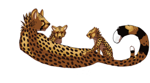 Cheetahfamily by OhShanny