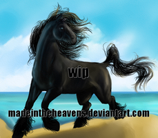 Seaside galop WIP by MadeInTheHeavens