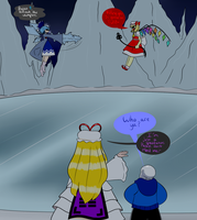 Undertale/Touhou crossover:Brainfreeze CirnoVSFlan by ReneesDetermination