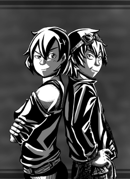 Request: Subaru and Naoto by ColorfullyMonotone