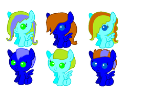 Stormx DiamondShine foals by Dib-the-survivor
