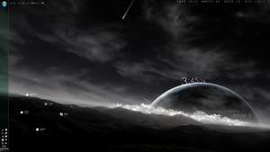 Rainmeter Desktop 05.01.2012 by Bennazi