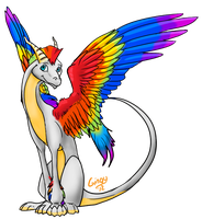 Syd The Rainbow Dragon by Gingy1380