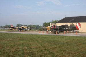 B-17 and B-24 on the ramp by SwiftFlyer