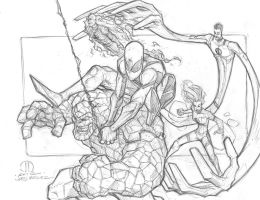 Future foundation pencils by JoeyVazquez