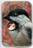 Bird ATC --Chickadee by LauraTringaliHolmes
