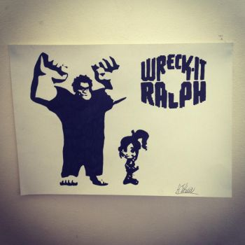 Wreck-it Ralph Stencil by Hillbro