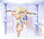 :Commission-Pull up competition/GohanXTrunks by WarlockMaster