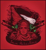 save palestine by andreasardy