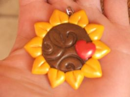 Fimo Sunflower3 by Libellulina
