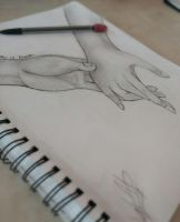 (( I KNOW THIS IS RANDOM. SORRY. I DREW HANDS )) by Ask-TheClaretFamily