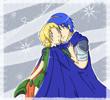 Marth x young Link by SparxPunx