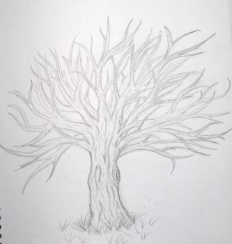 Tree sketch by DarkChasmWolf