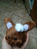 chocolate whip cream bunny plushie by Love-Who
