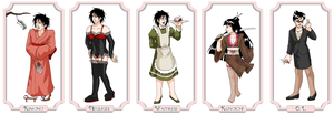 30 Alucards in Drag, 6-10 by ErinPtah