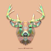 Triangle Deer (Vector) by HundredMelanie
