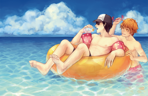 hq: kageyama cant swim by Sangcoon