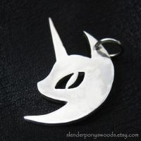 Silver Nightmare Moon pendant by Sulislaw
