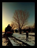Snow,Train and Photographer... by devaimystic